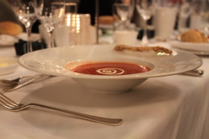 Soup!! Taken in a v arty fashion of course.