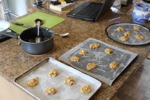 Florentines, pre baking, surely they won't spread that much...