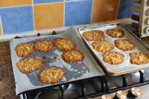 Florentines, post baking, oh yes they really do spread...