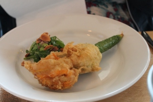 Kate's tempura courgette flower