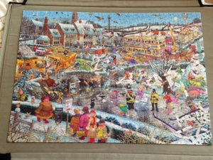 Completed 'I love Winter' jigsaw puzzle